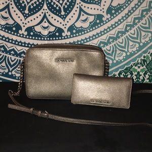 Michael Kors Crossbody and Matching Wallet